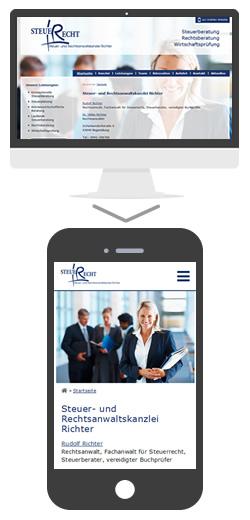 mobile Website Steuer- und Rechtsanwaltskanzlei Richter  in Regensburg
