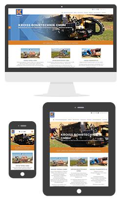 Website Kroiss Unternehmensgruppe in Roßbach