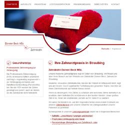 Website Doreen Beck - Zahnarztpraxis in Straubing