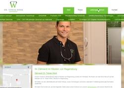 Website Zahnarzt Dr. Werk in Regensburg