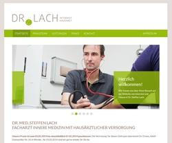 Screenshot Website Arztpraxis Dr. Steffen Lach - Werder (Havel)