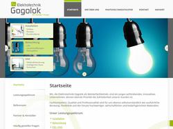 Screenshot Website Elektrotechnik Gogolok GmbH in Schönach
