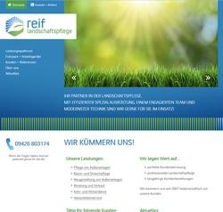 Website Reif Landschaftspflege in Aiterhofen / Niederharthausen