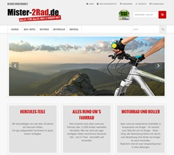 Onlineshop Gambio GX2 www.mister-2rad.de