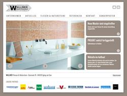 Screenshot Website Wallner Fliesen und Naturstein Eging am See