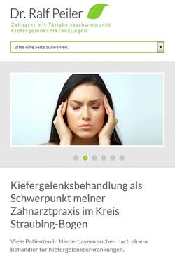 Screenshot Responsive Website www.kiefergelenksbehandlung-straubing-bogen.de