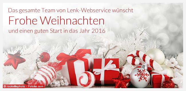 Lenk-Webservice wünscht frohe Weihnachten 2015